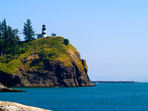 Lighthouse - Cape Disappointment WA USA. The Lighthouse at Cape Disappointment at Fort Canby State Park in Washington State USA Stock Image