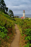 Lighthouse at Cape Disappointment, Washington Royalty Free Stock Image