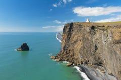 Lighthouse at cape Dyrholaey Stock Image
