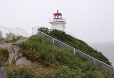 Lighthouse at Cape Enrage Royalty Free Stock Photo