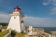 Lighthouse (Cape Enrage). Lighthouse (Cape Enrage, New Brunswick, Canada Royalty Free Stock Photography