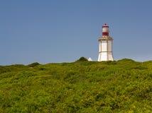 The lighthouse at Cape Espichel. The lighthouse at Cape Espichel is a lighthouse located at Cape Espichel, municipality of Sesimbra, Setúbal, Portugal Stock Photos