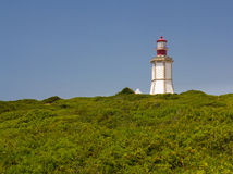 The lighthouse at Cape Espichel. Stock Photos