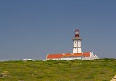 The lighthouse at Cape Espichel, Setúbal, Portugal Stock Photos