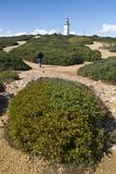 Lighthouse of Cape Espichel. View of the beautiful lighthouse of Cape Espichel, Sesimbra, Portugal Stock Image