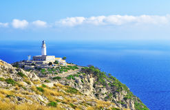 Lighthouse on cape formentor Stock Images