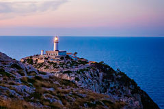 Lighthouse at Cape Formentor in the Coast of North Mallorca, Spain  Balearic Islands . Royalty Free Stock Photos