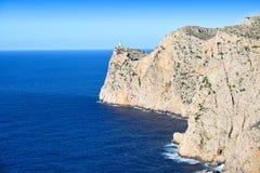 Lighthouse on the Cape Formentor on the island of Majorca Royalty Free Stock Photos