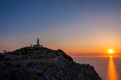 Lighthouse at Cape Formentor, Majorca, Spain Royalty Free Stock Image