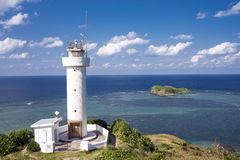 Lighthouse on cape Stock Images