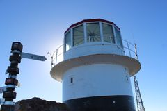 Lighthouse at cape of good hope royalty free stock images