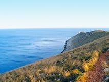 Lighthouse at Cape Matapan, Greece. royalty free stock photos