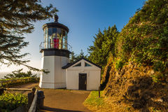 Lighthouse At Cape Meares Stock Photography