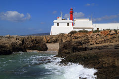 Lighthouse at Cape Raso, Cascais, Lisbon Stock Photo