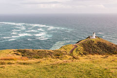 Lighthouse Cape Reinga on the North Island of New Zealand Royalty Free Stock Photo