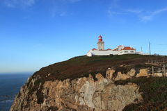 Lighthouse in Cape Roca Stock Photos