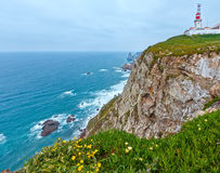 Lighthouse on Cape Roca, Portugal. Royalty Free Stock Images