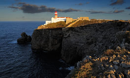 Lighthouse of cape Saint Vicente, Sagres, Portugal Royalty Free Stock Photography