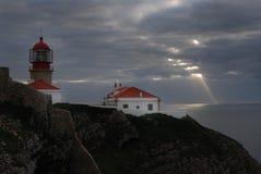 Lighthouse Cape Saint Vincent, Portugal Stock Photo