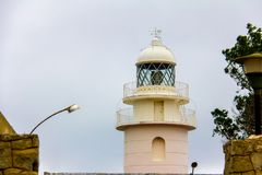 LIghthouse in the cape of San Antonio, in Javea, Spain royalty free stock images