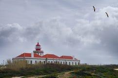 Lighthouse at Cape Sardao Royalty Free Stock Photo