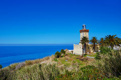 Lighthouse at the cape Spartel in Tangier Royalty Free Stock Images