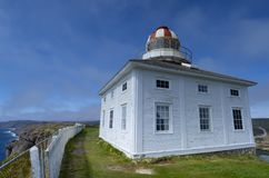 Lighthouse at Cape Speare, Canada Royalty Free Stock Photos