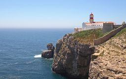 Lighthouse, Cape St Vincent Royalty Free Stock Photography