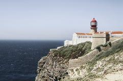 Lighthouse Cape St. Vincent Stock Photo