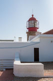 Lighthouse at Cape St. Vincent in Portugal Royalty Free Stock Photos