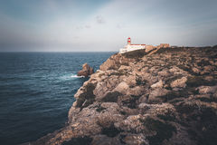 Lighthouse at Cape St. Vincent Royalty Free Stock Images