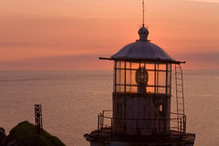 Lighthouse at Cape Taran. Stock Photo