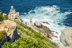 Lighthouse at Cape Town. City Cape of Hope pathway Royalty Free Stock Image