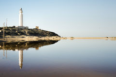 Lighthouse at Cape Trafalgar Royalty Free Stock Photo