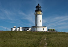 Lighthouse at Cape Wrath. Scotland Royalty Free Stock Photography