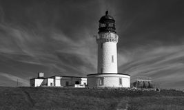 Lighthouse at Cape Wrath. Scotland Stock Photo
