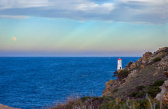 Lighthouse of Capo Ferro Stock Images