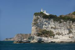 Lighthouse at Capo Miseno Stock Image
