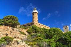 Lighthouse in Capo Sandalo royalty free stock photo