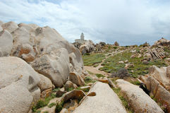 Lighthouse Capo Testa. Lighthouse on Carpo Testa, Italy Royalty Free Stock Image