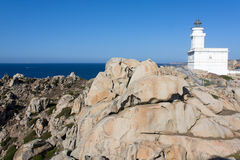 Lighthouse At Capo Testa, Sardinia Royalty Free Stock Image
