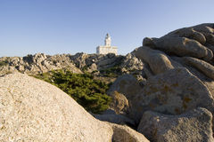 Lighthouse of Capo Testa - Sardinia Royalty Free Stock Image