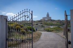 Lighthouse at Capo Testa Stock Photo