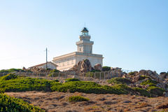 Lighthouse at Capo Testa, Sardinia Royalty Free Stock Photo