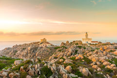 Lighthouse at Capo Testa, Sardinia, Italy Stock Image