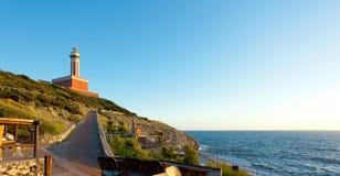 Lighthouse of Capri Island, Italy, Europe Royalty Free Stock Images