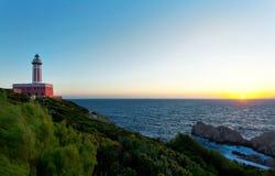 Lighthouse of Capri Island, Italy, Europe Stock Image