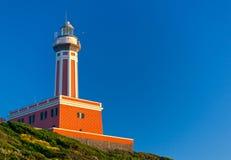 Lighthouse of Capri Island, Italy, Europe Stock Images