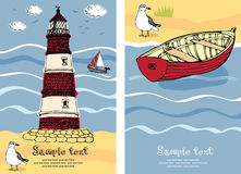Lighthouse card Royalty Free Stock Photos