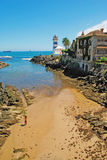 Lighthouse in Cascais Stock Image